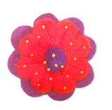 brooches, handmade felt brooches, Felt hair clip, Felt craft brooches, Felt flower brooches