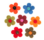 Felt brooches, Feltr flower brooches, felt wool brooches, handmade felt wool brooches from Nepal