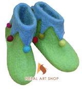 felt shoes, felt products, Nepal felt shoes, Nepal handmade felt shoes