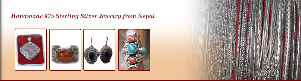 Nepal handmade sterling silver jewelry, 925 sterling silver jewelry, necklaces, Nepal, pendants, earrings, bracelets, handmade